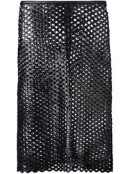 Isabel Marant Cut Out Panel Skirt Black