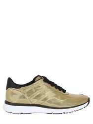 Hogan 30Mm Metallic Leather Sneakers