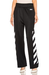 Off White Sporty Trackpants In Black