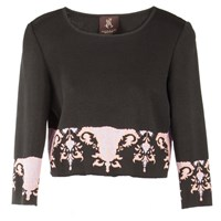 Ekaterina Kukhareva Crop Top Black Pink Purple