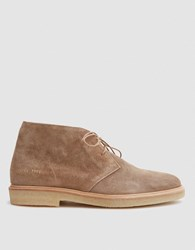 Common Projects Chukka In Tan Waxed Suede