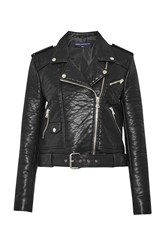 French Connection Generation Faux Leather Biker Jacket Black