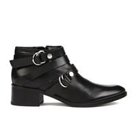 Mcq By Alexander Mcqueen Women's Ridley Harness Ankle Boot Black