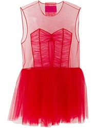 Viktor And Rolf Hole. Icon 1.1 Dress Nylon Red