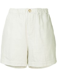 Bassike Washed Herringbone Holiday Shorts Neutrals