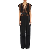 Givenchy Women's Floral Lace Vest Blue