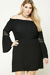 Forever 21 Plus Size Crochet Trim Dress Black