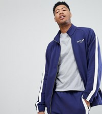 Sixth June Track Jacket In Blue With Side Stripe Exclusive To Asos