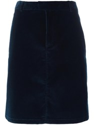 A.P.C. Straight Short Skirt Blue