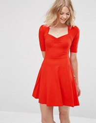 Asos Sweetheart Skater Dress Red