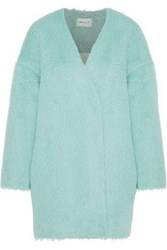 Milly Helen Alpaca And Wool Blend Coat Mint