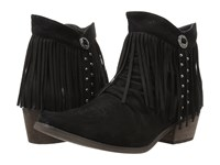 Roper Fringy Faux Black Leather Women's Boots