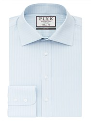 Thomas Pink Men's Ackerman Texture Classic Fit Button Cuff Blue