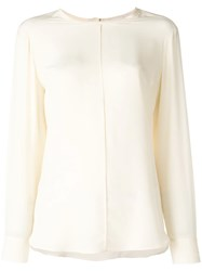 Tela Long Sleeve Blouse Nude And Neutrals