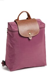 Longchamp 'Le Pliage' Backpack Brown Fig