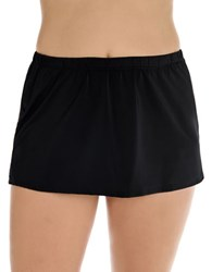 Longitude Solid Swim Skirt And Inner Briefs Black