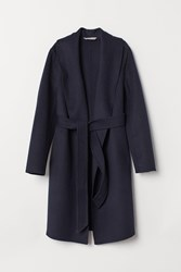 Handm H M Wool Blend Coat Blue