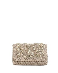 Eric Javits Devina Embellished Small Clutch Bag Gray