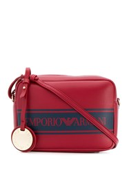 Emporio Armani Printed Logo Crossbody Bag Red