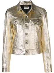 Saint Laurent Boxy Fit Jacket Gold