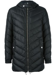 Versus Hooded Quilted Jacket Black