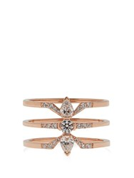 Raphaele Canot Deco Rocks Diamond And Rose Gold Ring Rose Gold
