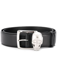 Philipp Plein Skull Plaque Belt Black