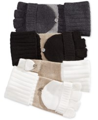Calvin Klein Flip Top Gloves Cream Heathred Almond