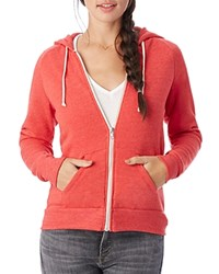 Alternative Apparel Hoodie Adrian Zip Eco True Red