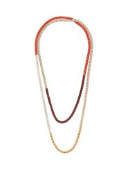 Lucy Folk Naturalist Gold Plated And Steel Necklace