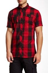 Burnside Plaid Short Sleeve Regular Fit Shirt Red
