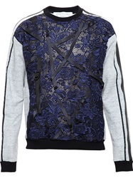 James Long Lace And Strap Sweatshirt Blue