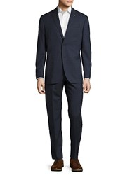 Michael Bastian Wool Buttoned Suit Navy
