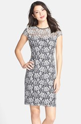 Women's Marc New York By Andrew Marc Cotton Blend Lace Sheath Dress