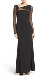 Vera Wang Women's Ilusion Inset Gown