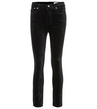 Rag And Bone Velvet Skinny Jeans Black