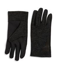Black Brown Knit Tech Gloves Black