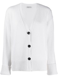 Lamberto Losani Cable Knit Cardigan White
