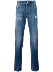 Givenchy Creased Effect Tapered Jeans Blue