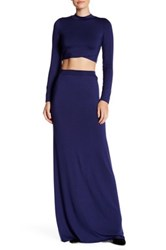 Rachel Pally Back Slit Maxi Skirt Blue