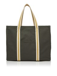 Dash Metallic Webbing Tote Bag Grey