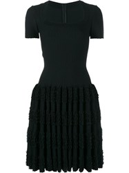 Alaia Ruffle Short Sleeve Dress