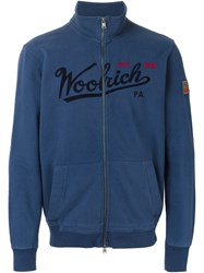 Woolrich Funnel Neck Sweatshirt Blue