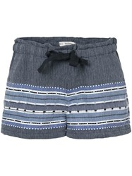 Lemlem Embroidered Details Shorts Blue