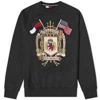 Tommy Jeans Hilfiger Collection Embroidered Crest Crew Sweat Black