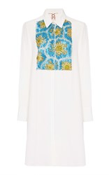 Figue Ivory Embroidered Emmanuel Tuxedo Tunic White