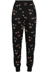 Missoni Woman Jacquard Knit Wool Blend Track Pants Black