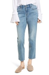 Treasure And Bond Pansy Embroidered Crop Boyfriend Jeans Granite Light Embroidery