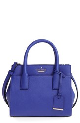 Kate Spade New York 'Cameron Street Mini Candace' Leather Satchel Blue Green Nightlife Blue