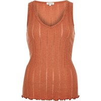 River Island Womens Rust Brown V Neck Sleeveless Tank